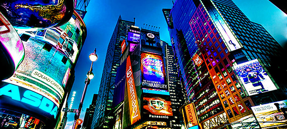 times square outdoor displays